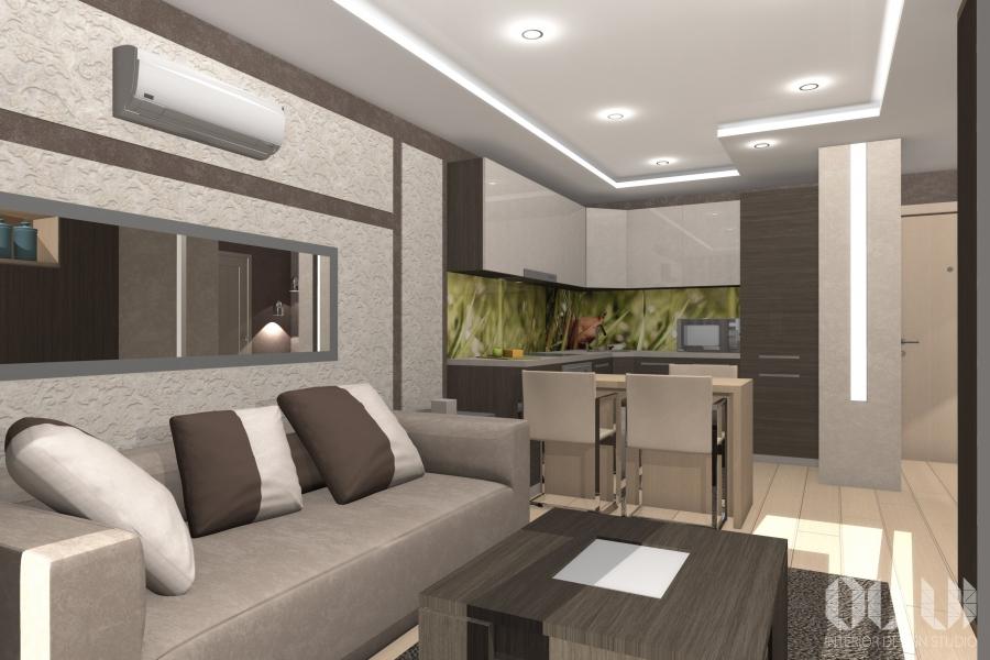 Дизайн проекты однокомнатных квартир 42 кв.м